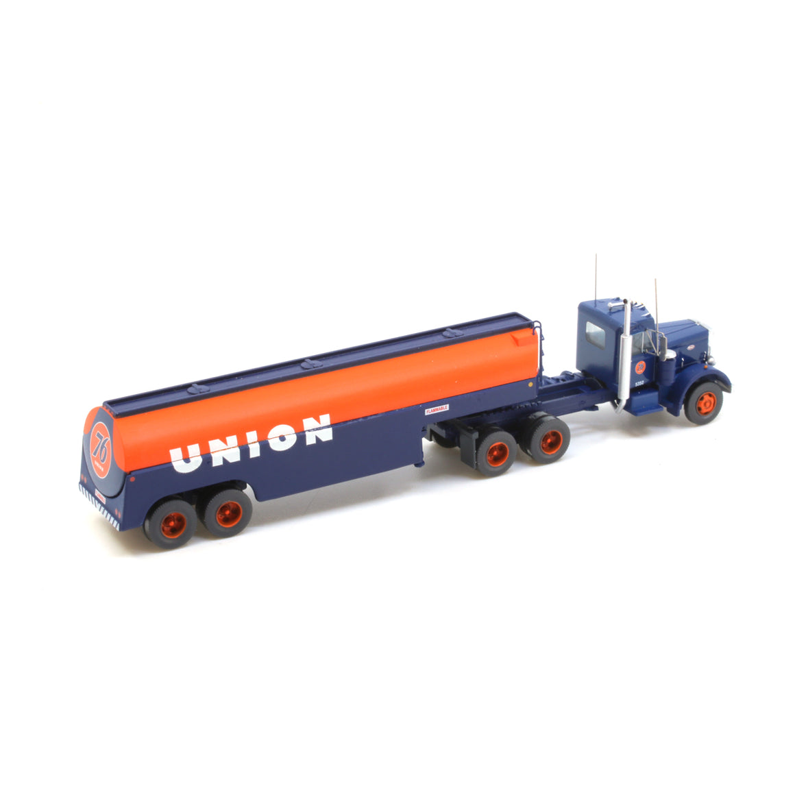 N Scale: Peterbilt 351 with Fuel Tank Trailer - Union 76