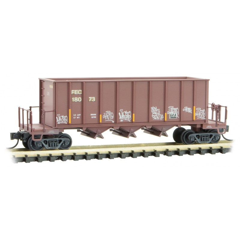 N Scale: Ortner Rapid Discharge Hopper - FEC - 'Easter' Graffiti