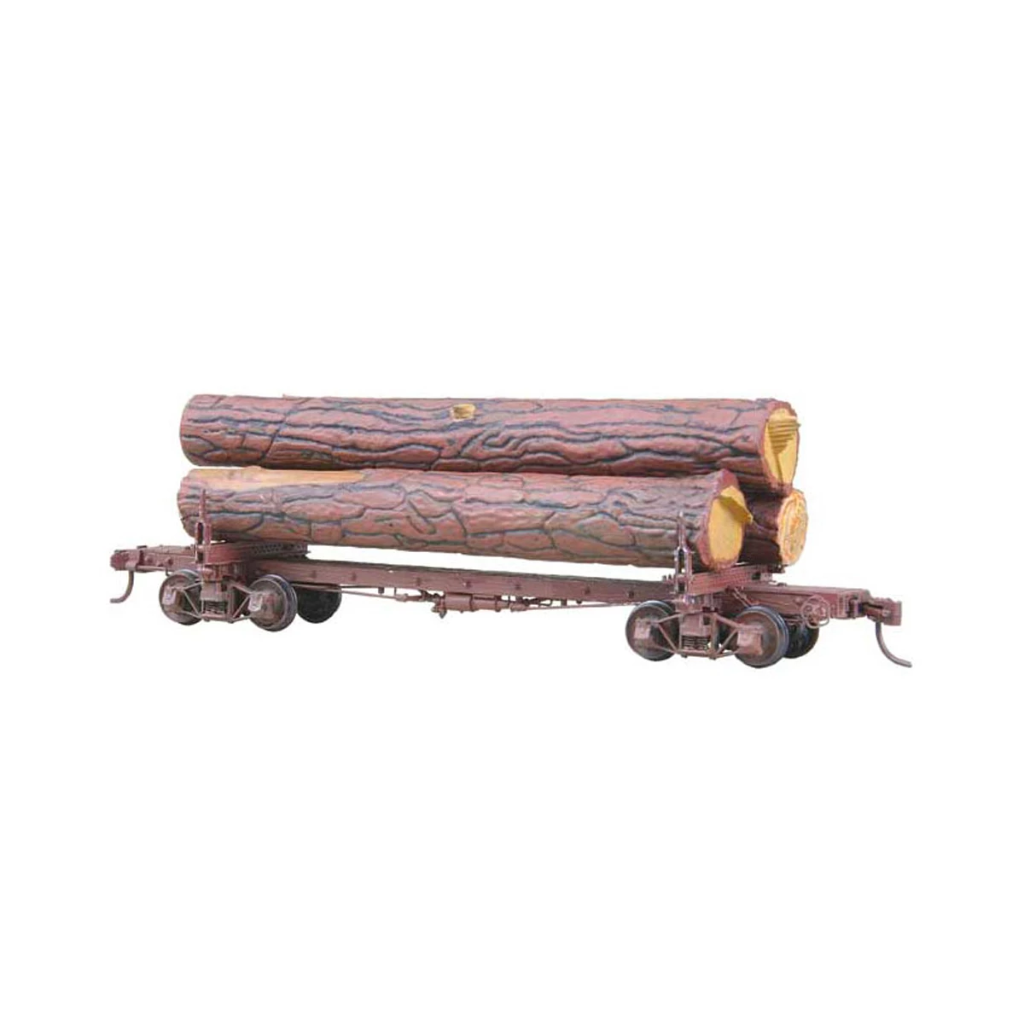 HO Scale: 42-Foot Skeleton Log Car w/ Logs - Kit