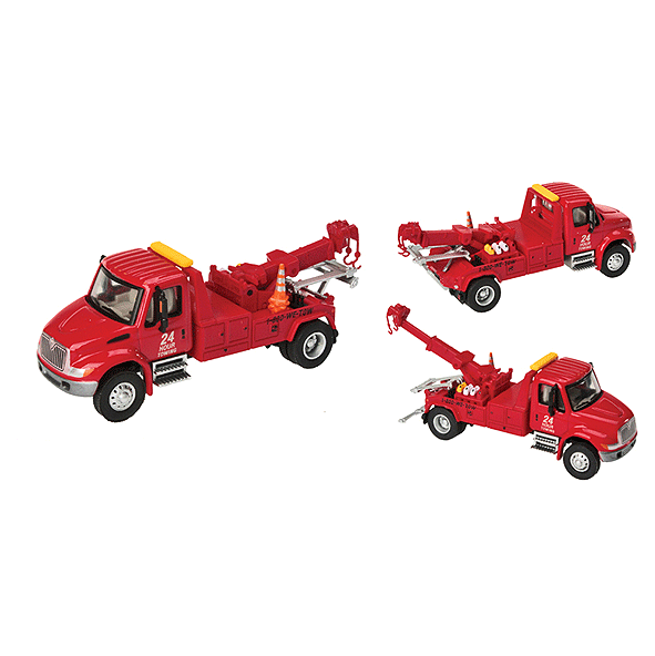 HO Scale: International® 4300 Tow Truck - Red