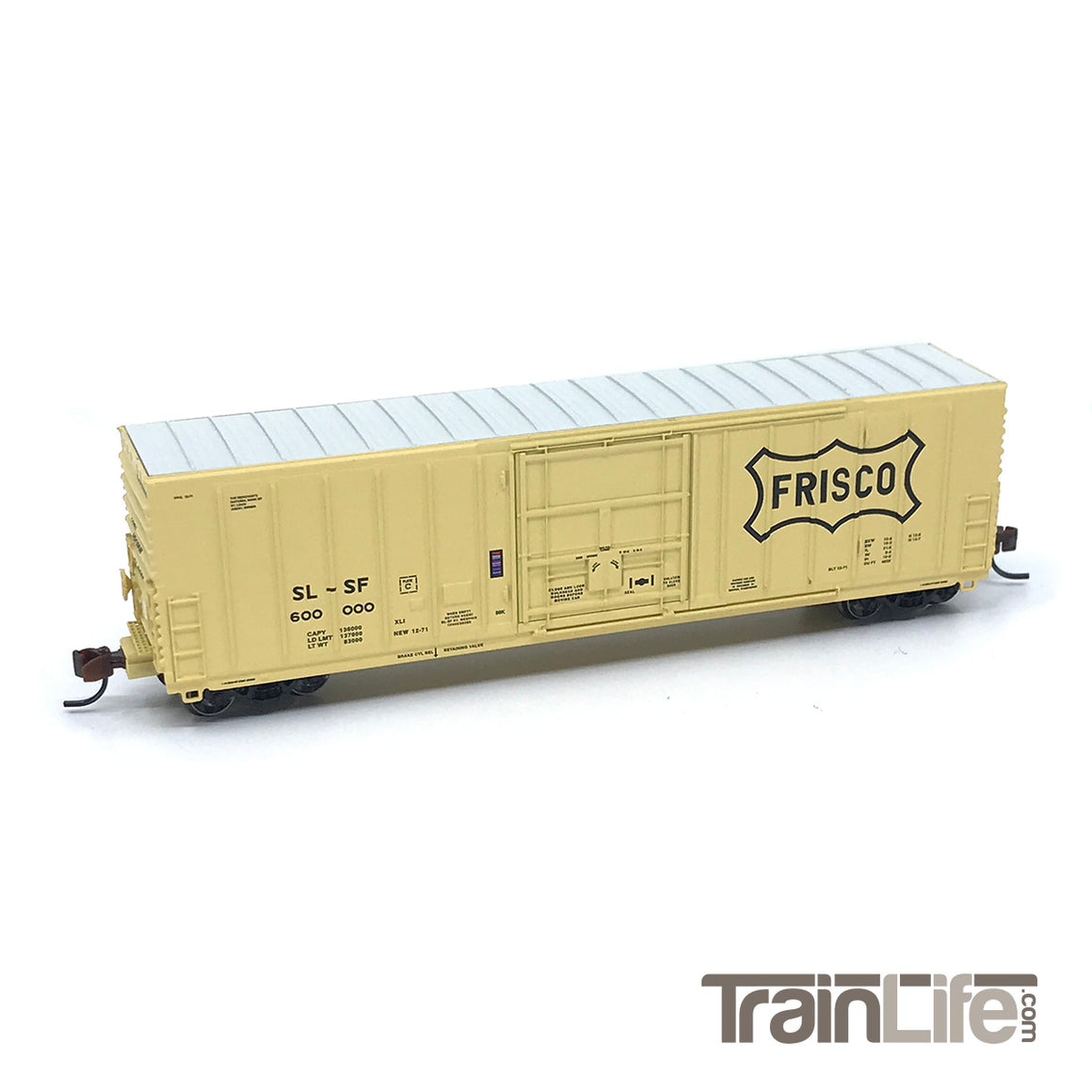 N Scale: PC&F 50' Exterior Post Insulated Boxcar - Frisco