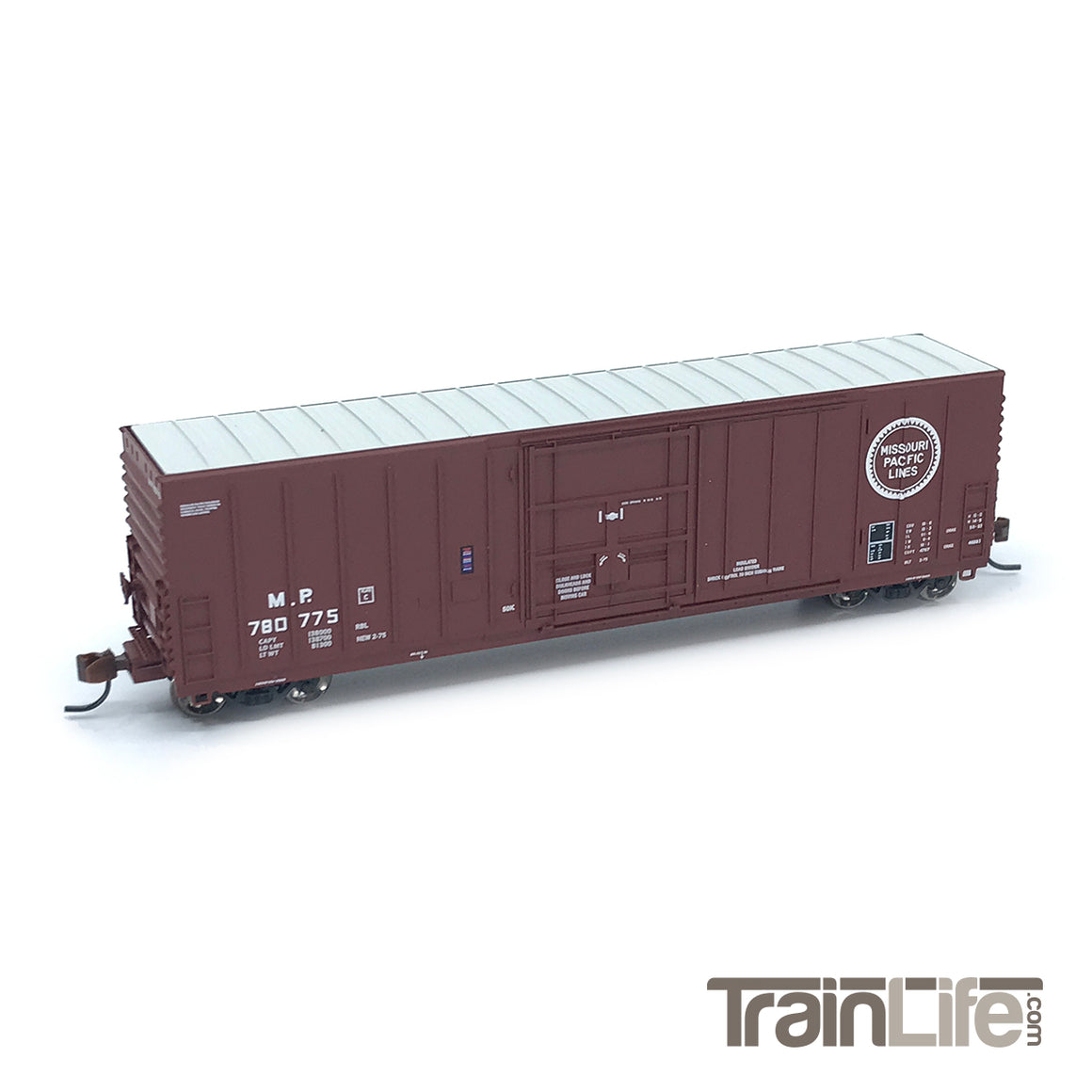 N Scale: PC&F 50' Exterior Post Insulated Boxcar - Missouri Pacific