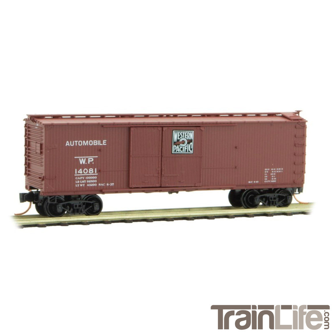 N Scale: 40' Double-Sheathed Automobile Boxcar - WP