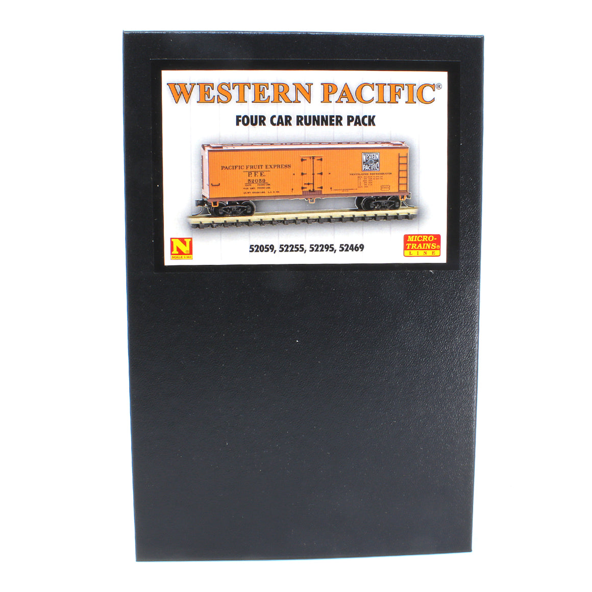 N Scale: 40-Foot Double Sheathed Wood Reefer - Western Pacific 'PFE' - 4 Pack