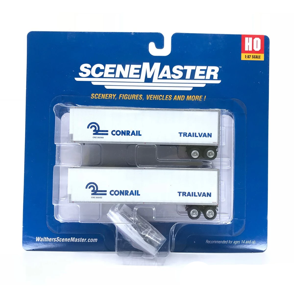 HO Scale: 40' Trailmobile Trailer 2-Pack - Conrail