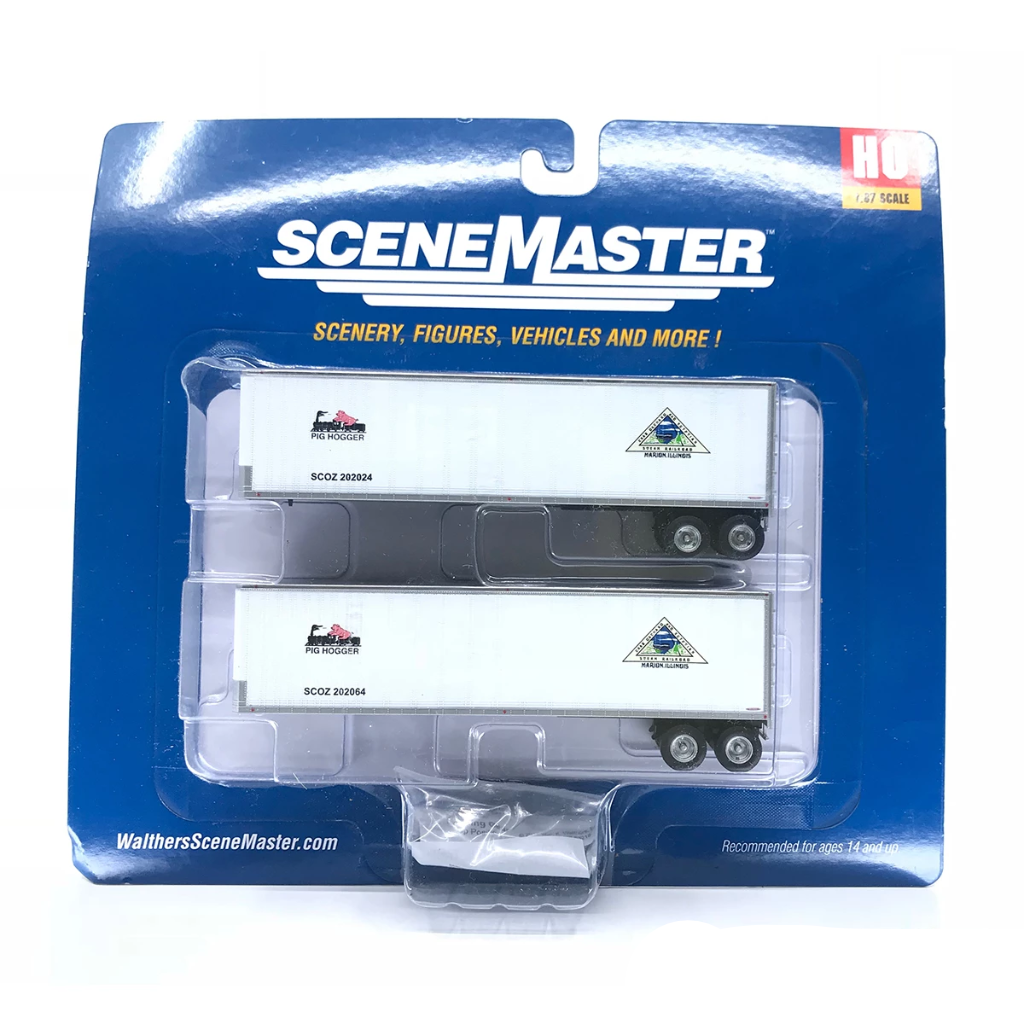 HO Scale: 40' Trailmobile Trailer 2-Pack - Crab Orchard & Egyptian