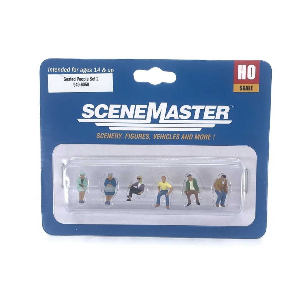 HO Scale: Seated People - Set #2 - 6 Pack
