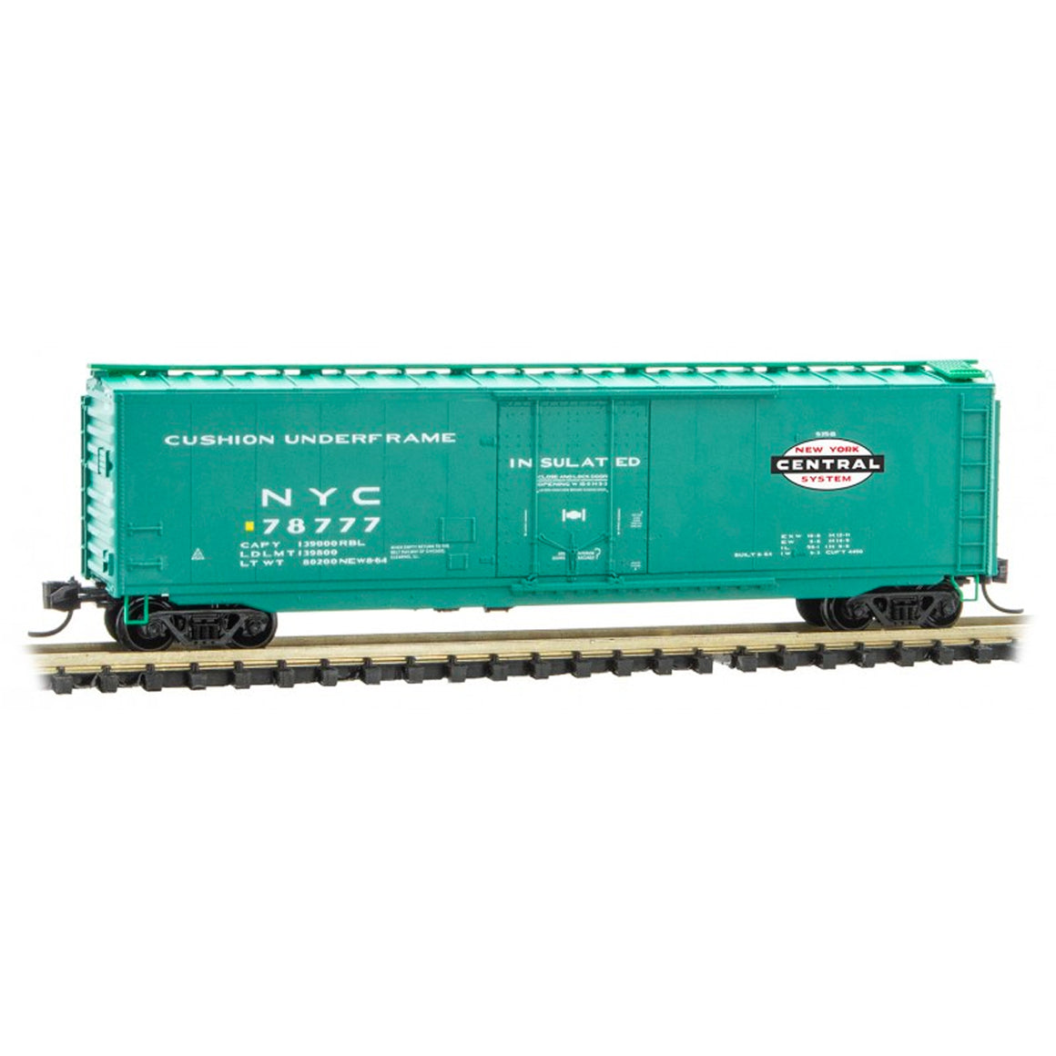 N Scale: 50' Standard Plug Door Boxcar - New York Central