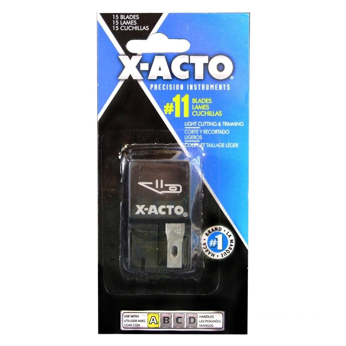 X-ACTO #11 Classic Fine Point Blade Replacements - Stainless Steel - 15 pack