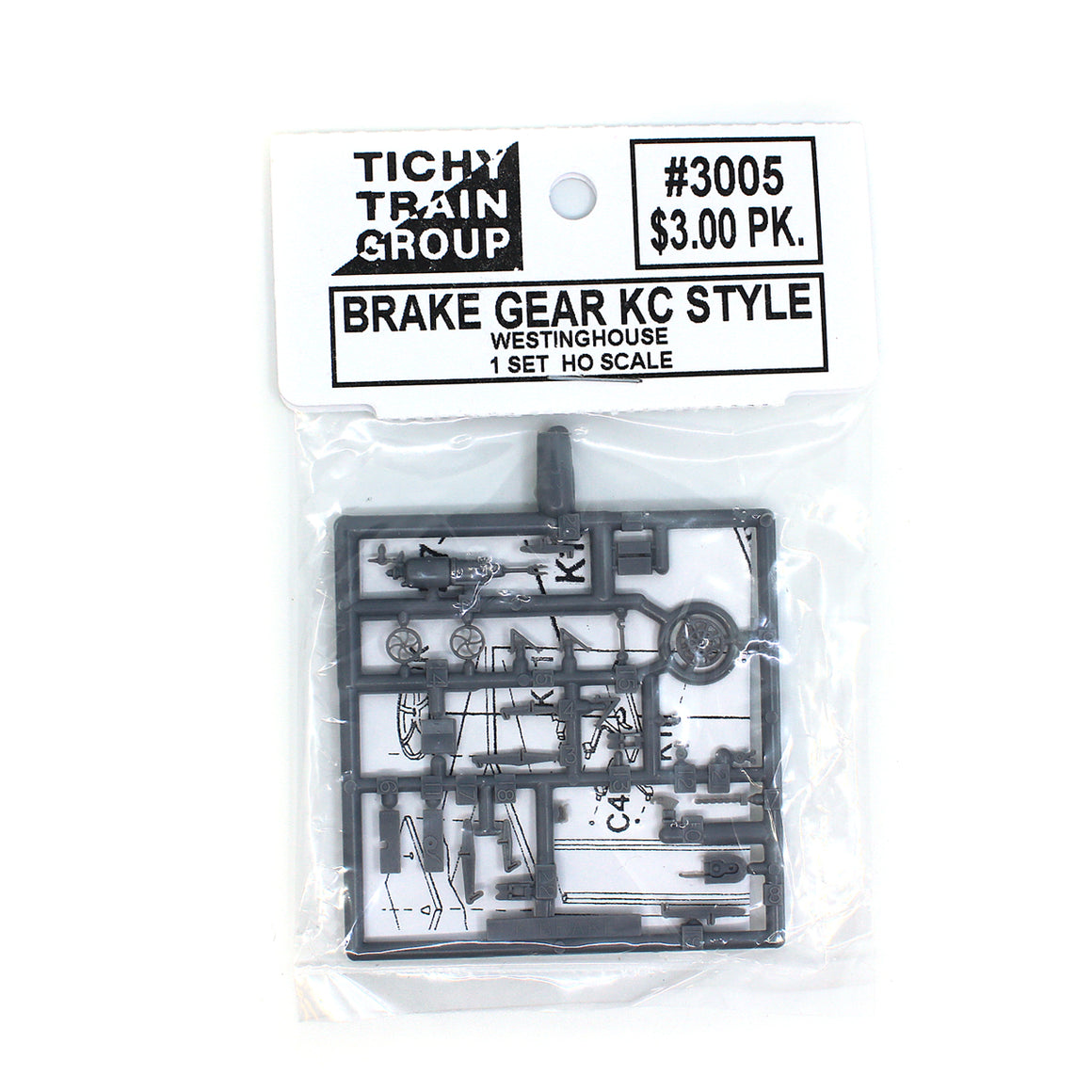 HO Scale: Detail Parts - KC Air Brake Set