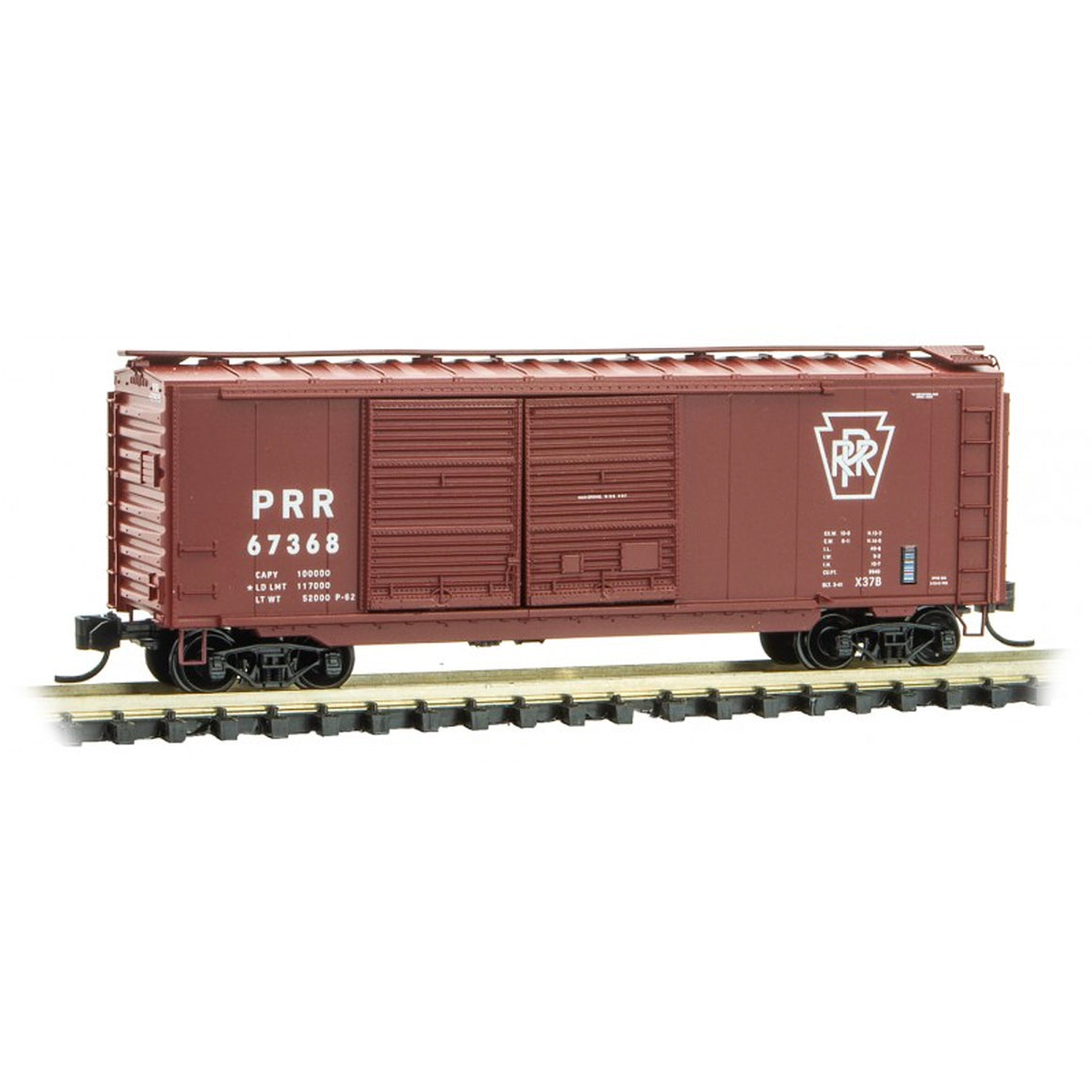 N Scale: 40' Double Door Boxcar - Pennsylvania Railroad