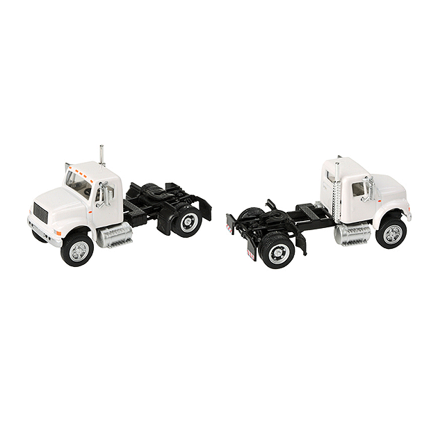 HO Scale: International® 4900 Single-Axle Semi Tractor - White