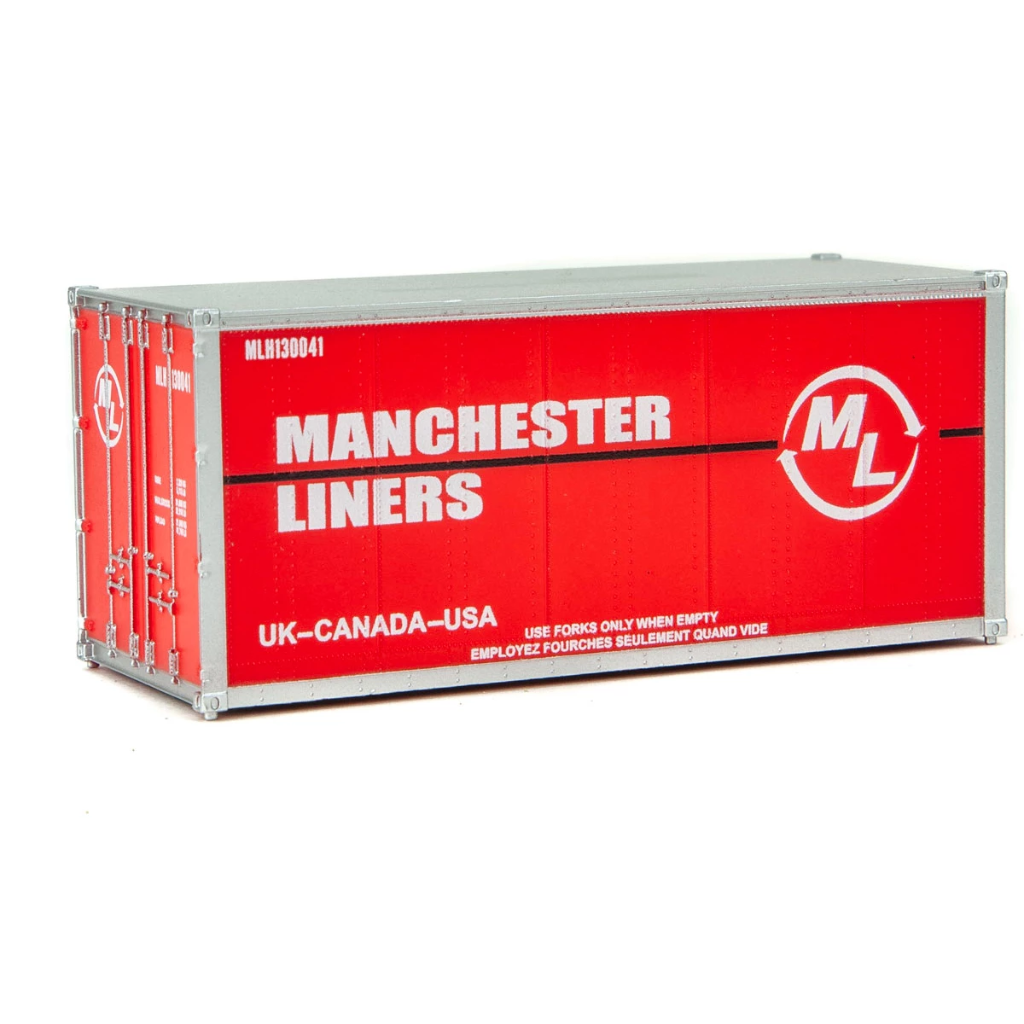 HO Scale: 20' Smooth-side Container - Manchester Liners
