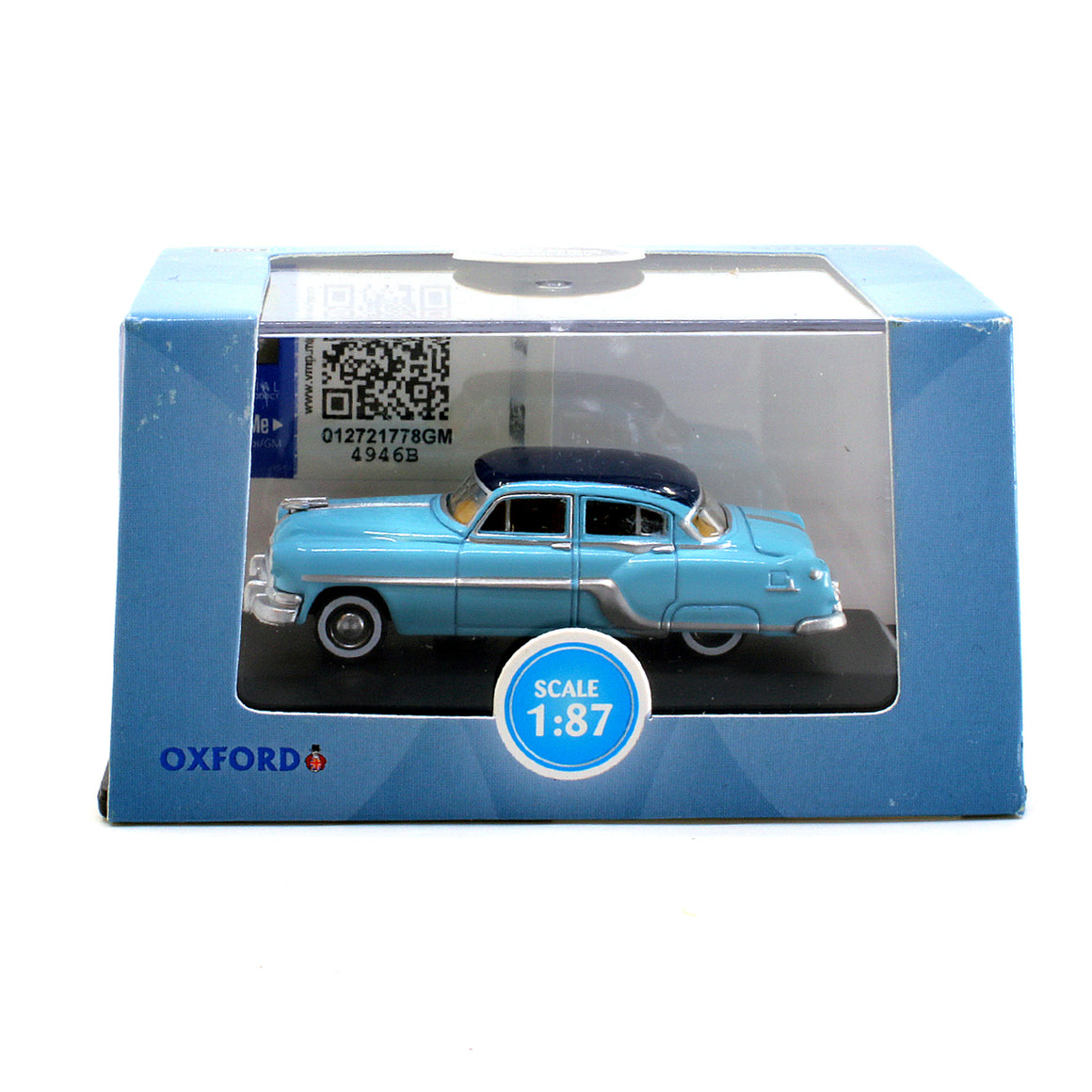 HO Scale: 1954 Pontiac Chieftan - Mayfair Blue / San Marino Blue