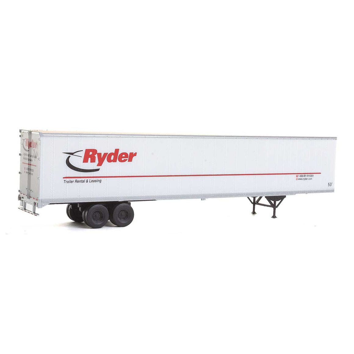 HO Scale: 53' Stoughton Trailer - Ryder - 2 Pack