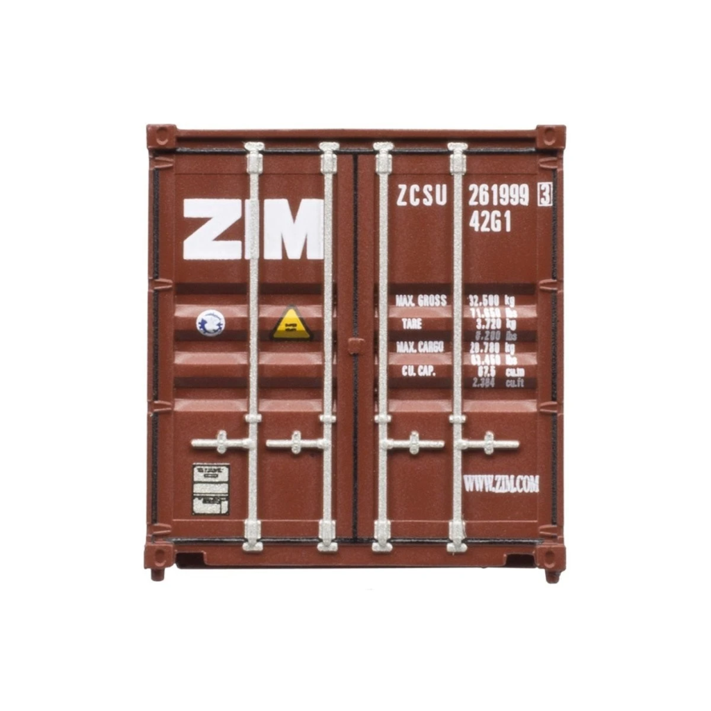 N Scale: 40' Standard Height Shipping Container - Zim - 3 Pack