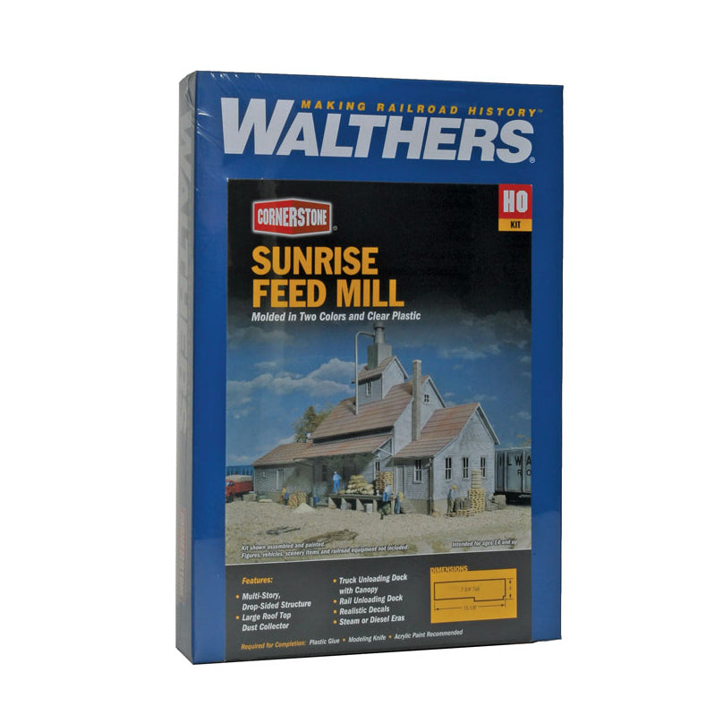 HO Scale: Sunrise Feed Mill - Kit