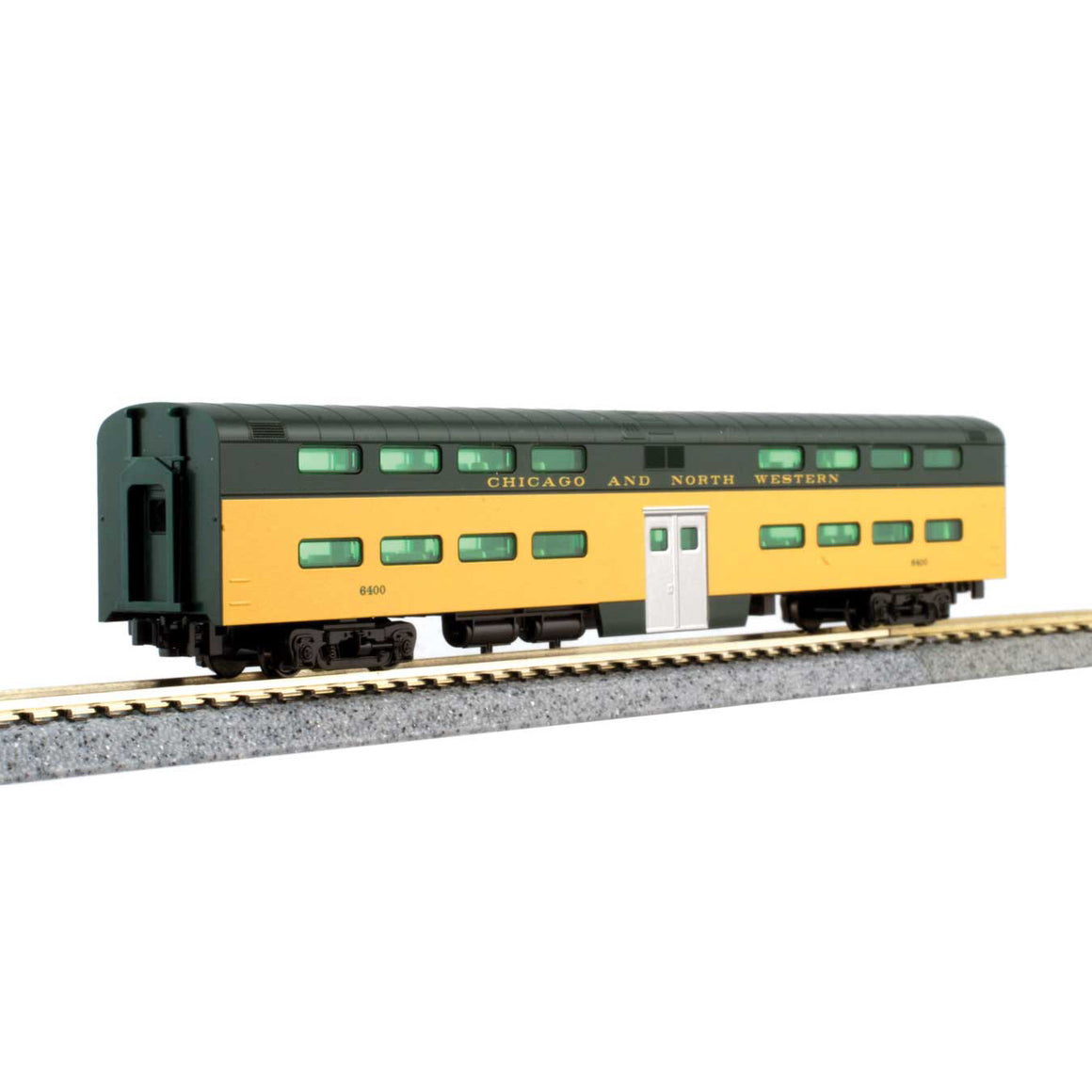N Scale: EMD E8A & 5 Car Set - DCC - Chicago North Western '400 Series'
