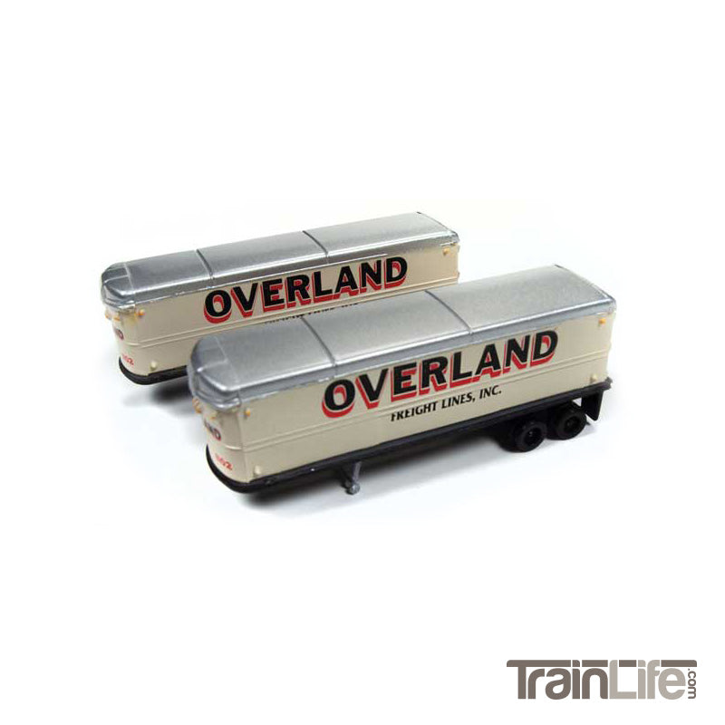 N Scale: Aerovan Trailer - Overland Freight Lines - 2 Pack