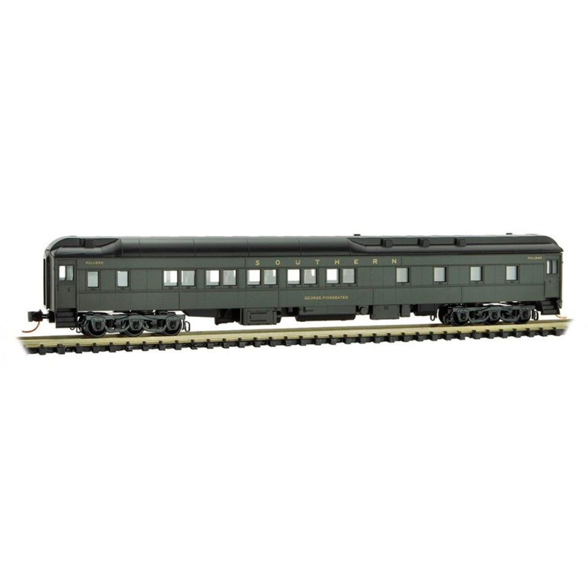 N Scale: 10-1-2 Heavyweight Sleeper Car - Southern Railway 'George Pondexter'