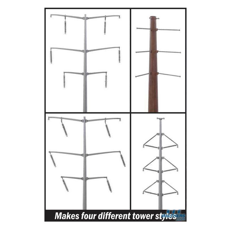 HO Scale: Modern High Voltage Transmission Towers - Kit