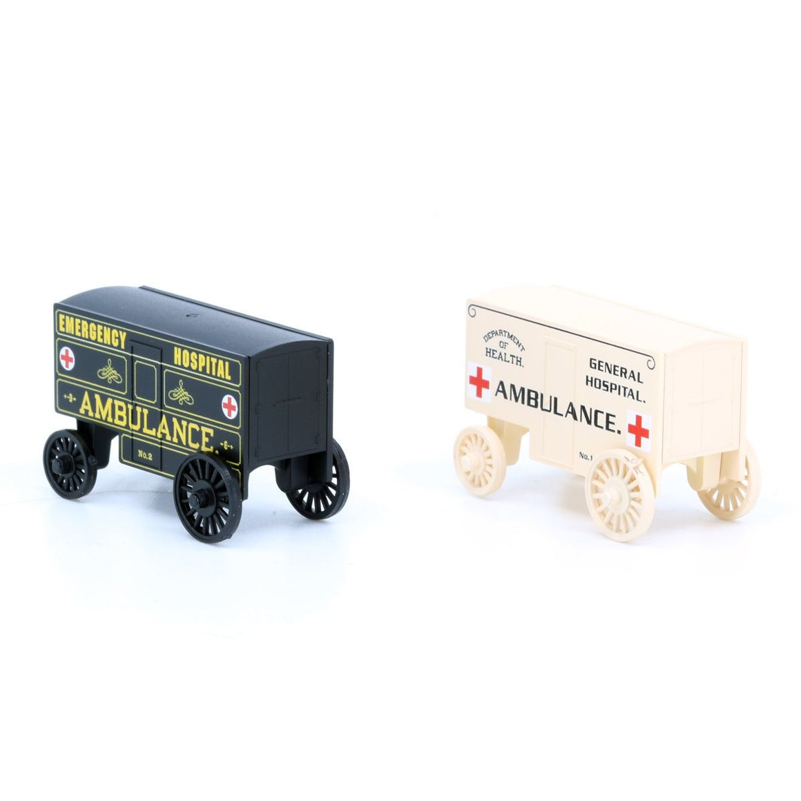 N Scale: Ambulance Wagons - 2-pack