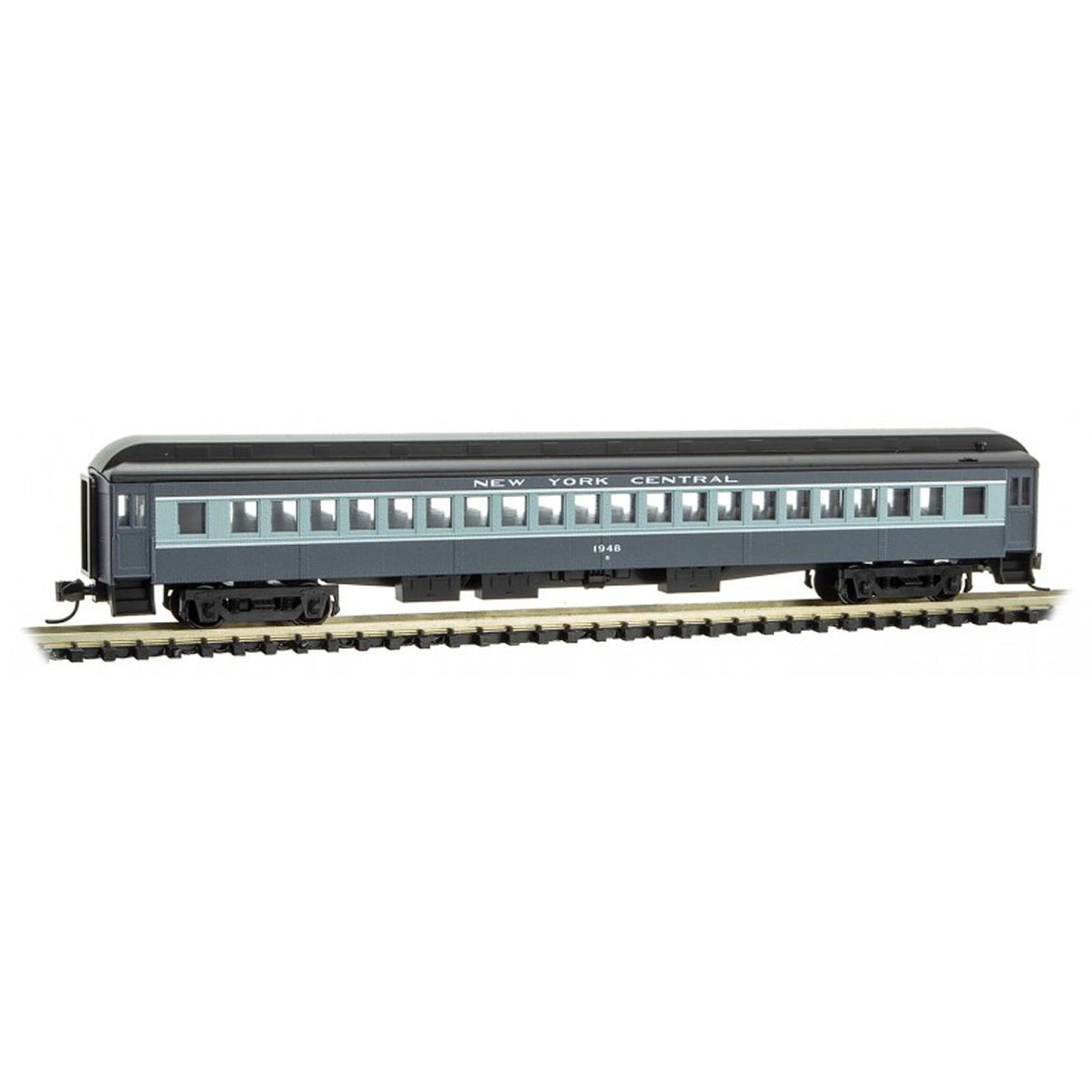 N Scale: 78' Heavyweight Single-Window Coach - New York Central