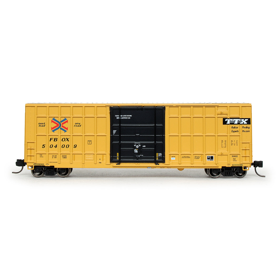 N Scale: Trinity 6275 Boxcar - TTX/FBOX '2004 As-Delivered'