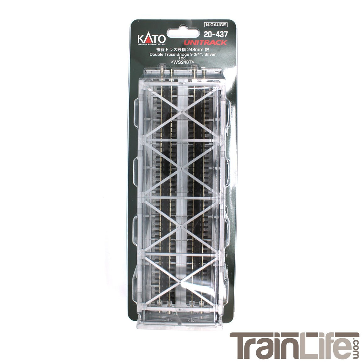 N Scale: Kato Unitrack - Double Track - Single-Truss Bridge