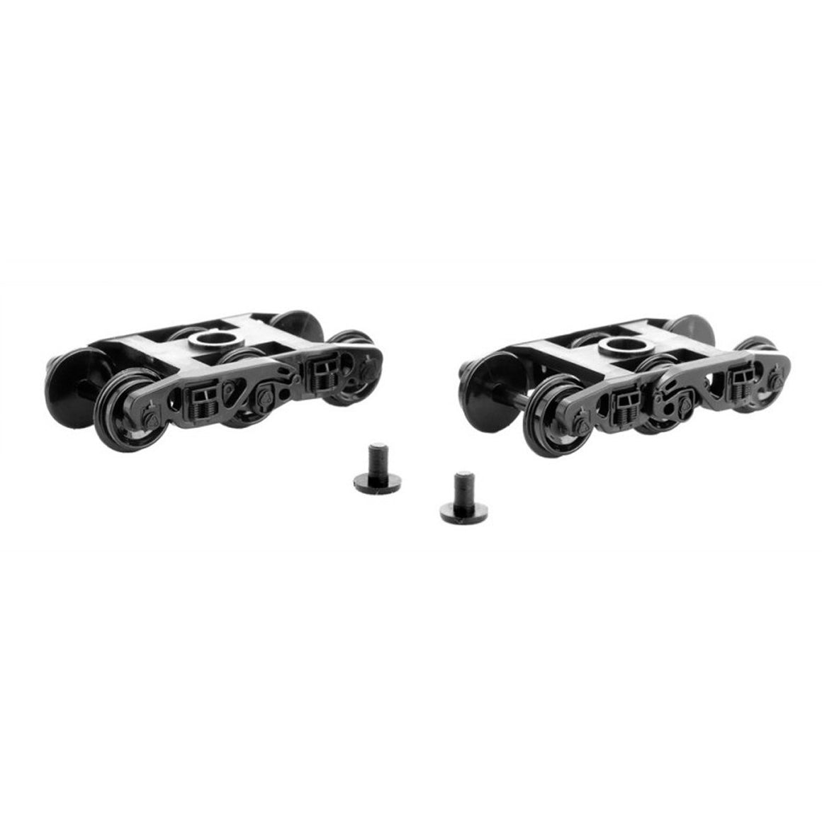 N Scale: Buckeye Trucks w/o Couplers  - 1 Pair - Assembled