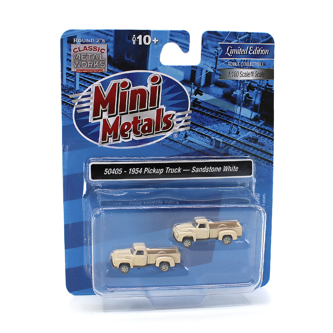N Scale: 1954 Ford Pickup - Sandstone White - Weathered