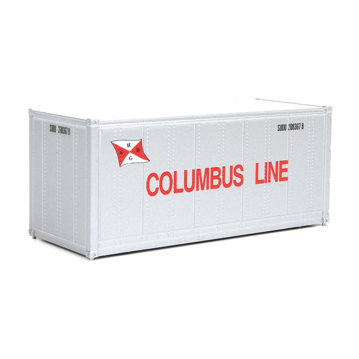 HO Scale: 20' Smooth-side Container - Columbus Line