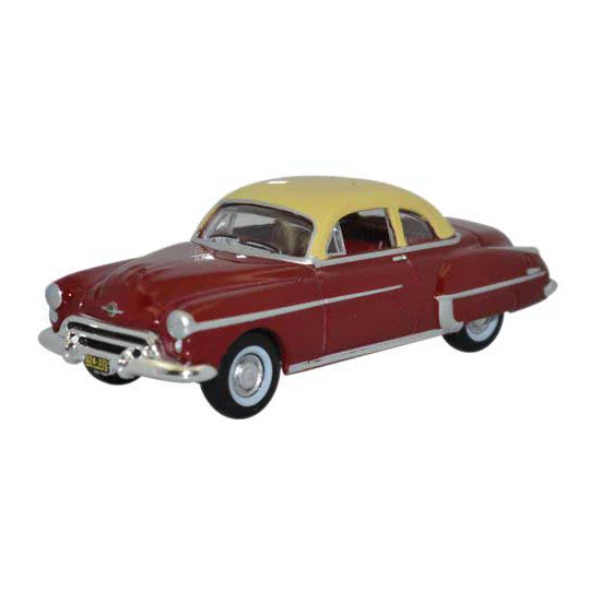 HO Scale: 1950 Oldsmobile Rocket 88 - Red & Cream