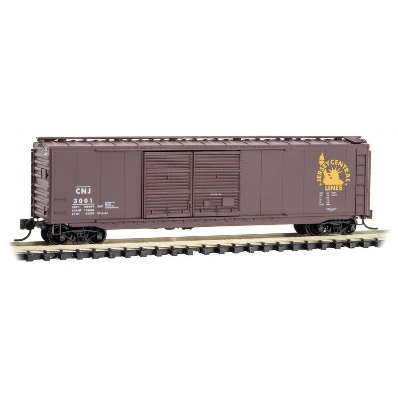 N Scale: 50' Standard Double Door Boxcar - Central New Jersey