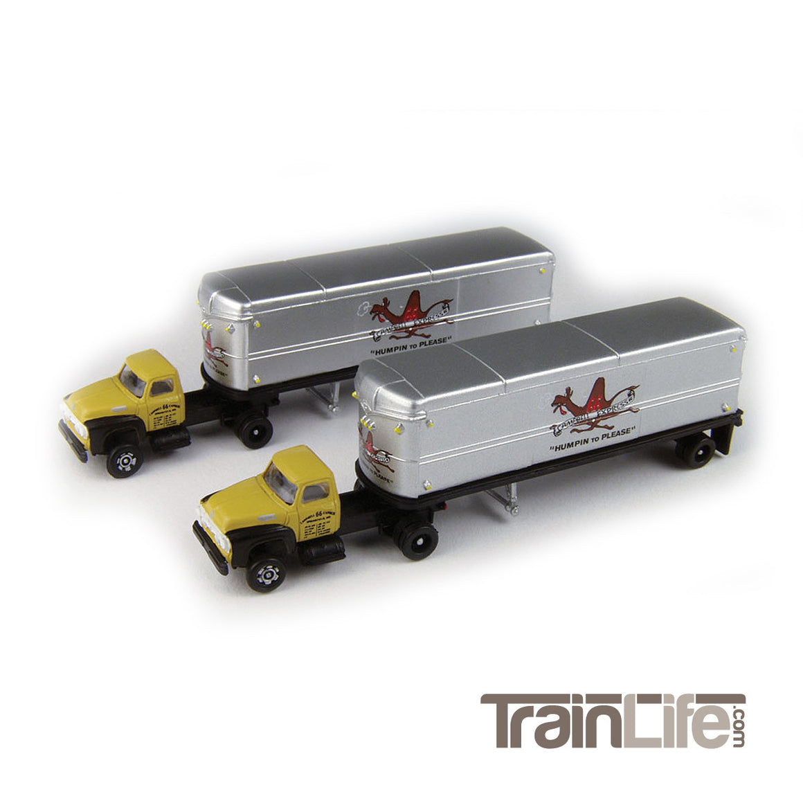 N Scale: 1954 Ford-Tractor/Trailer Set