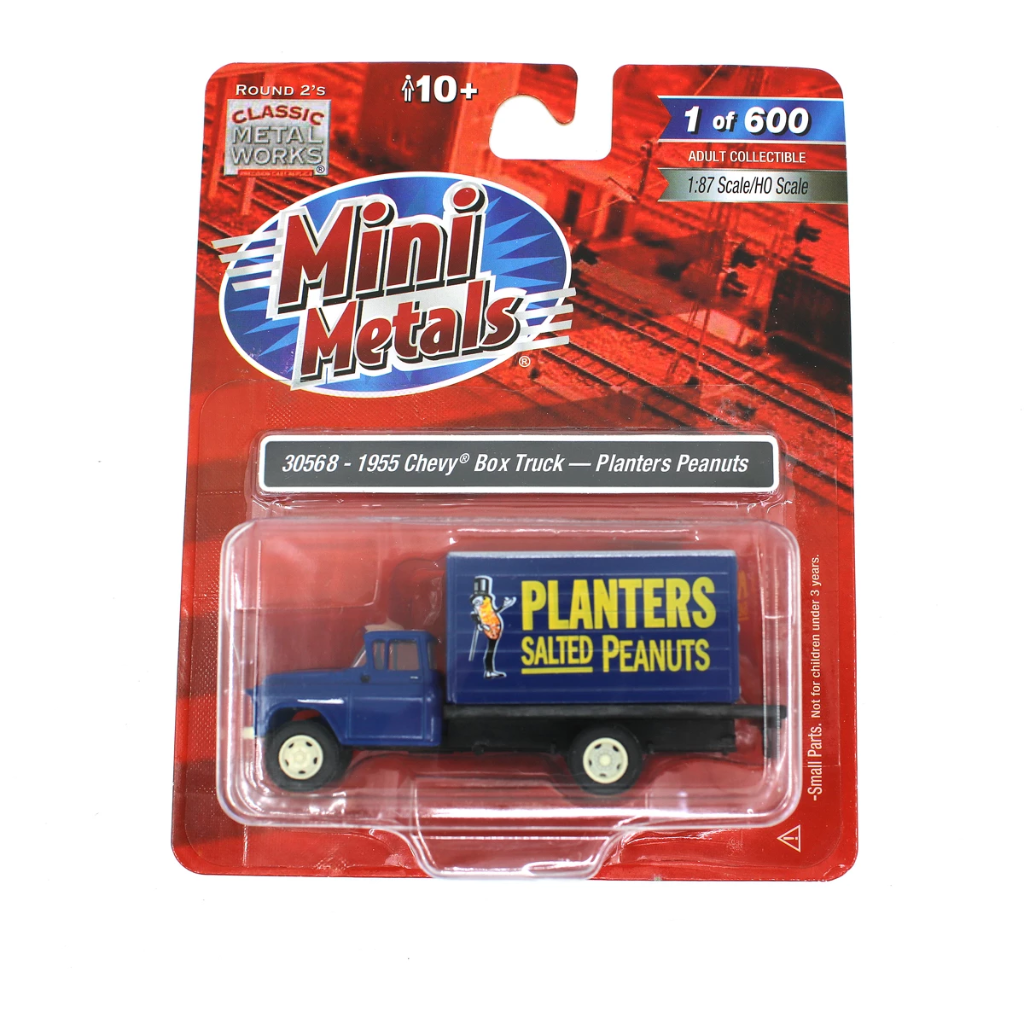 HO Scale: 1955 Chevy Box Truck - Planters Peanuts