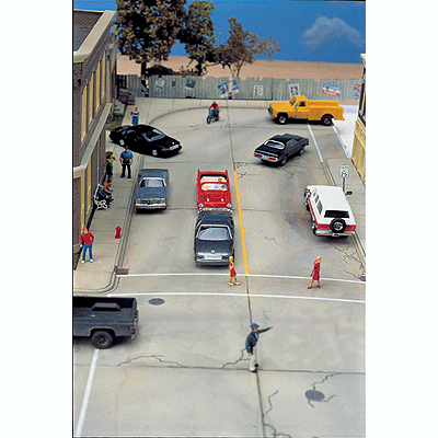 HO Scale: Concrete Street System - Complete Set - Kit
