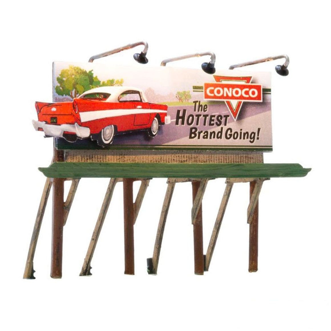 HO Scale: Just Plug® Lighted Billboard - Conoco
