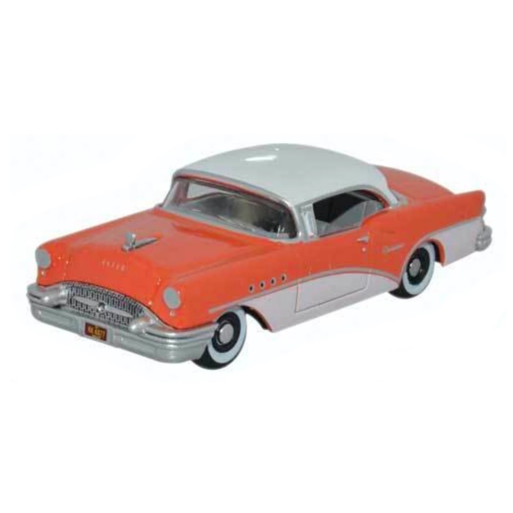 HO Scale: 1955 Buick Century - Coral & White
