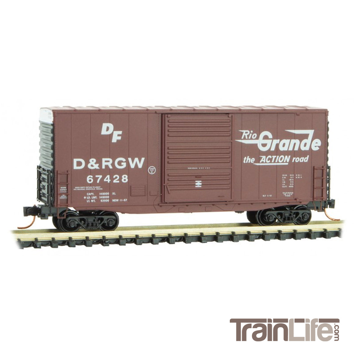 N Scale: 40' Hi-Cube Box Car - D&RGW