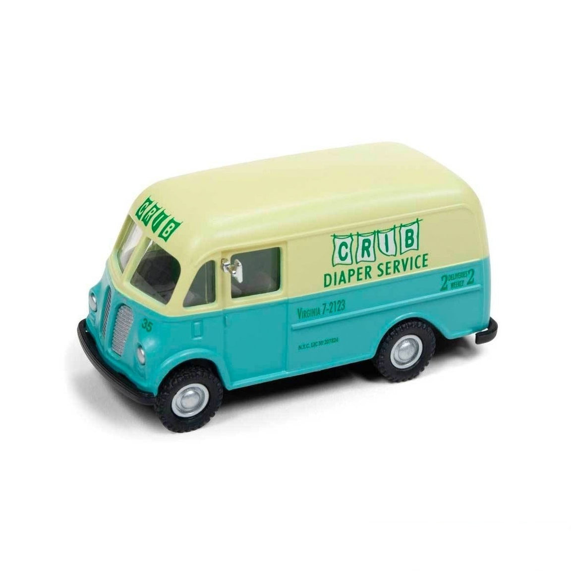 HO Scale: 1940/50s International Harvester Metro Delivery Van - Crib Diaper Delivery