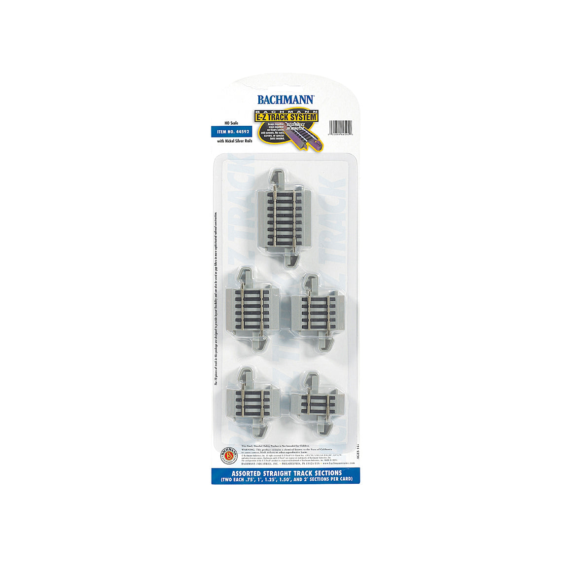 HO Scale: Nickel Silver E-Z Track - Connector Assortment