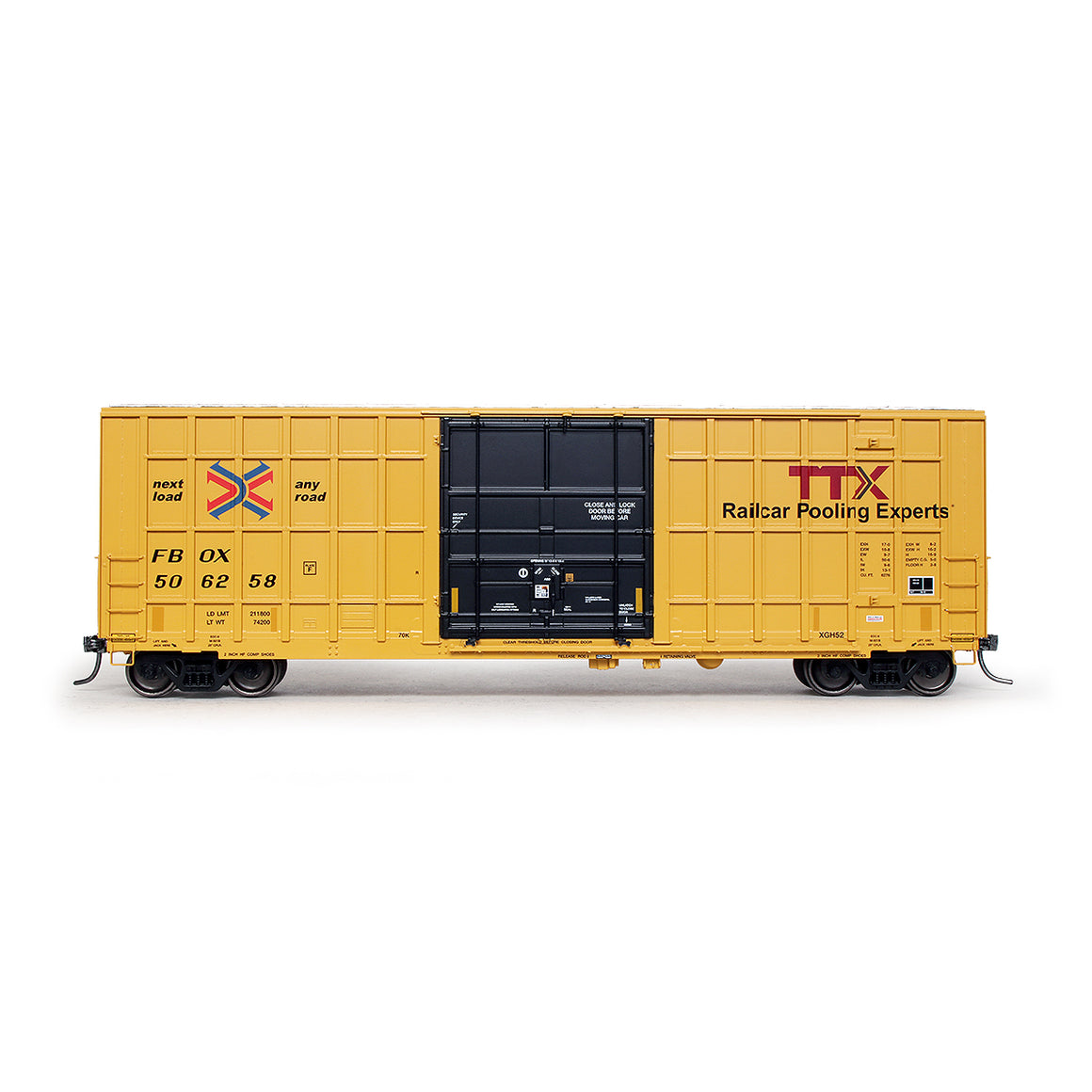 HO Scale: Trinity 6275 Boxcar - TTX/FBOX '2012 As-Delivered'