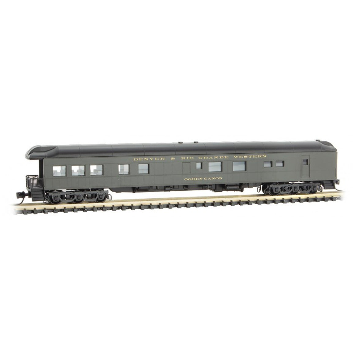 N Scale: Heavyweight Modernized Business Car - D&RGW 'Ogden Canyon'