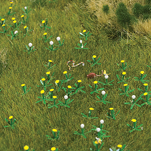 HO Scale: Dandelion Patch