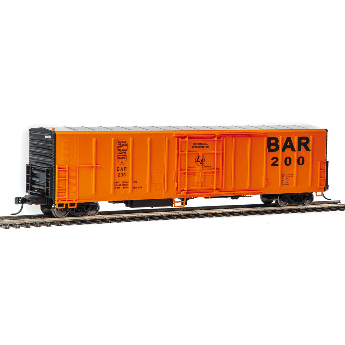 Walthers Mainline HO Scale: 57' Mechanical Reefer - Bangor and Aroostook