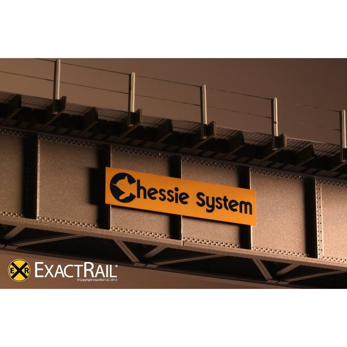 HO Scale: 72' Deck Plate Girder Bridge - Cable Handrails - Chessie System