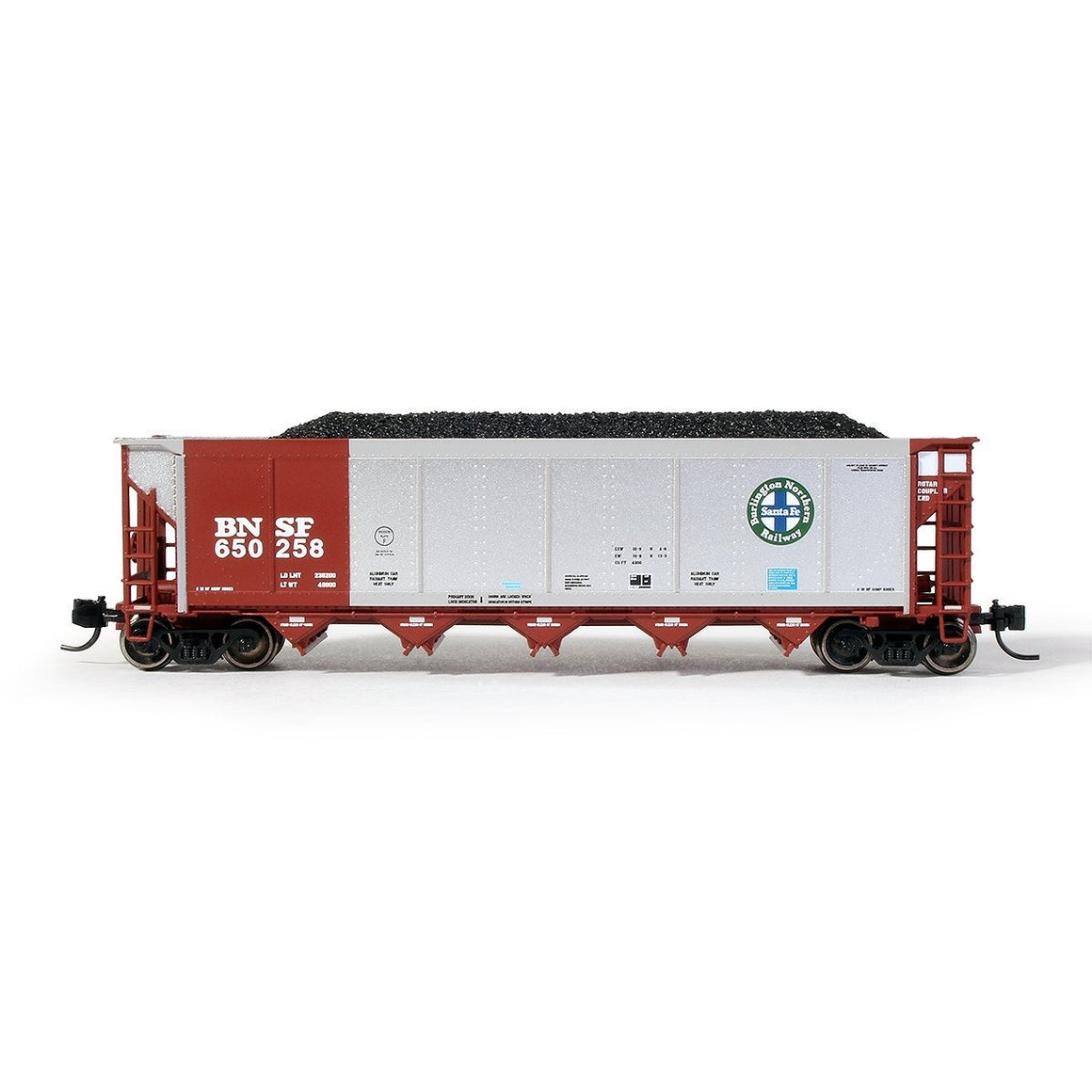 N Scale: Johnstown America AutoFlood II Hopper - BNSF - Brown