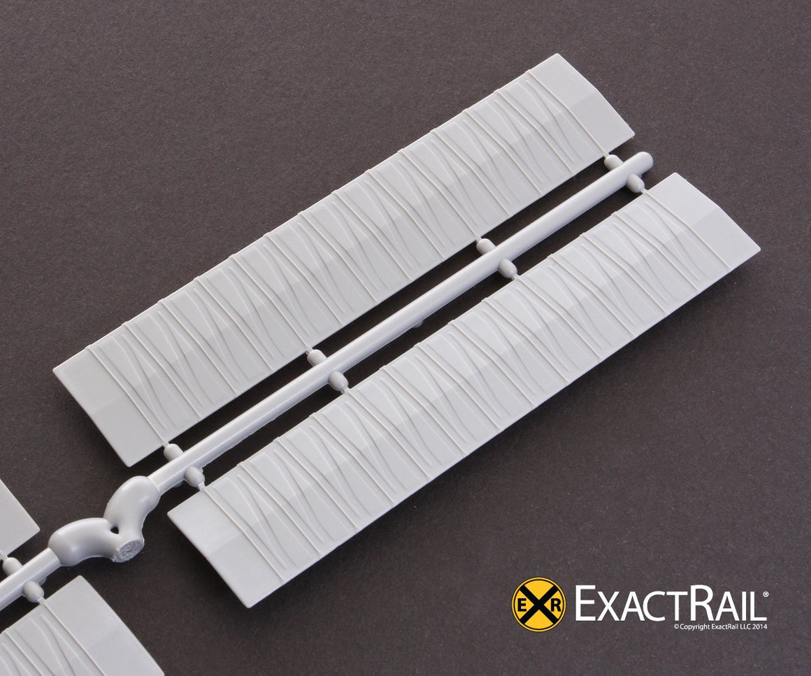 N Scale: Roof - 50' Diagonal Overhanging