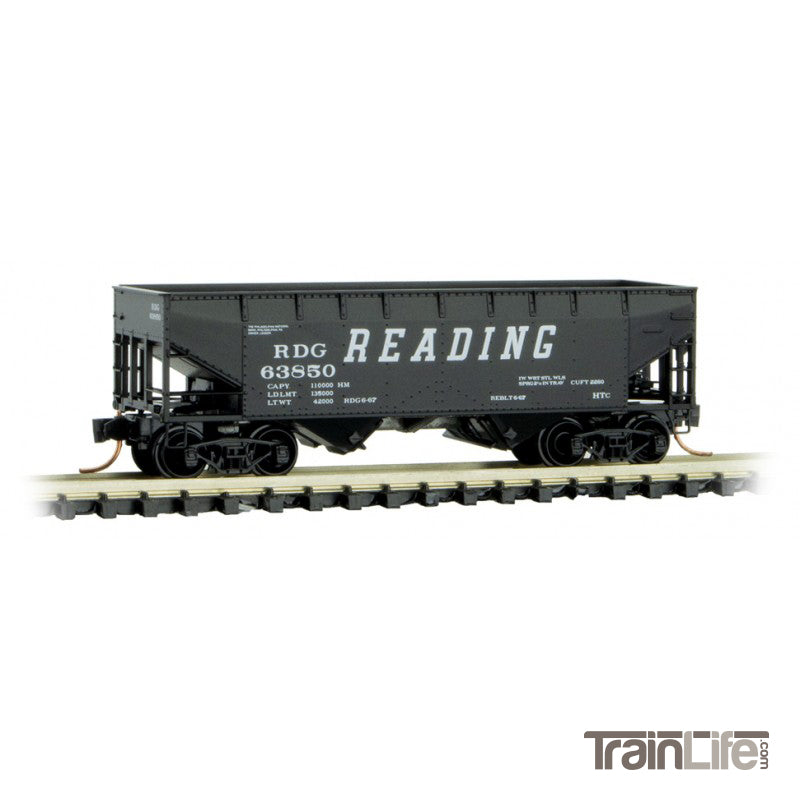 N Scale: 33' Twin Bay Hopper - Reading